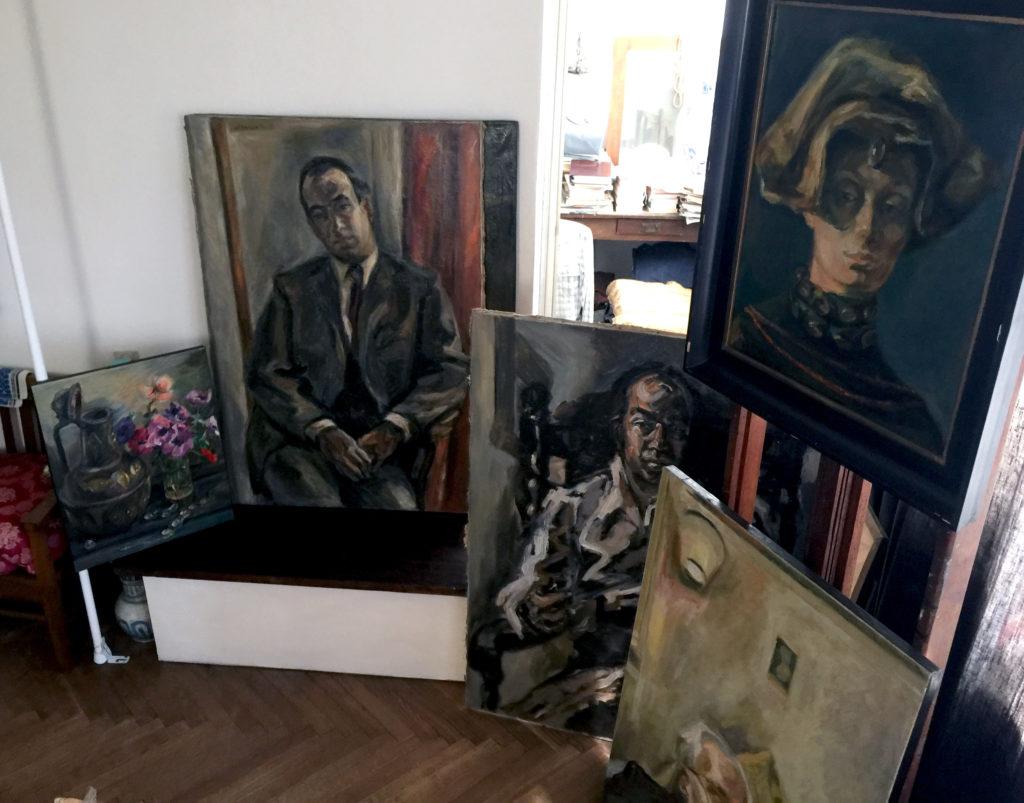 Obrazy w pracowni Ludmiły Murawskiej