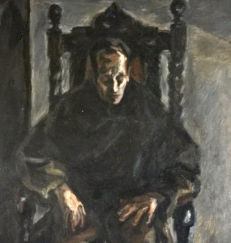 Obraz Miron Białoszewski, namalowała Ludmiła Murawska